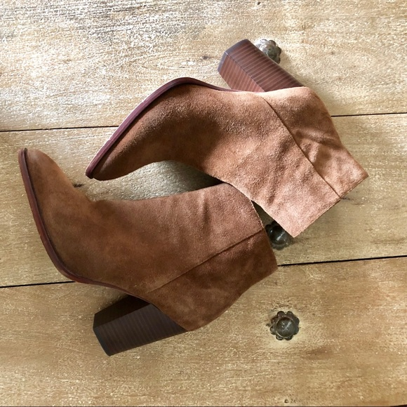 Sam Edelman Shoes - Sam Edelman cognac suede heels booties. Size 10